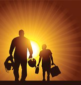 Football Father and Son Background