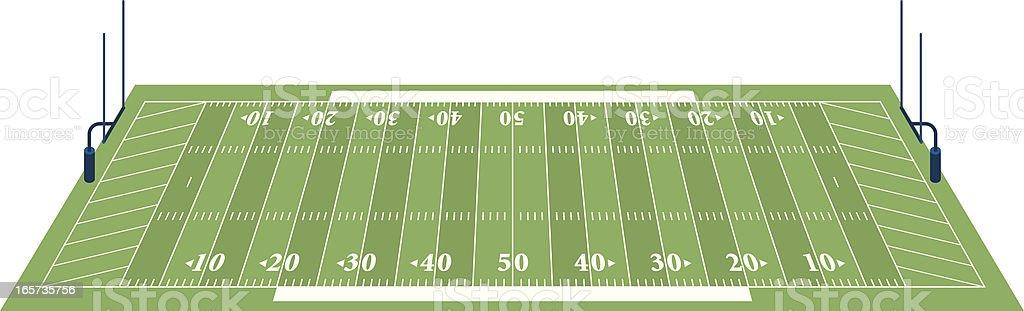 Football Field 3D vector art illustration