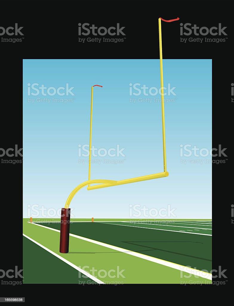 Campo de fútbol americano y poste de portería ilustración de campo de fútbol americano y poste de portería y más banco de imágenes de campo de fútbol americano libre de derechos