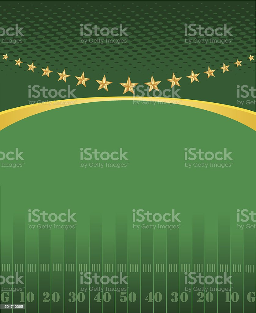 Football Field Background vector art illustration