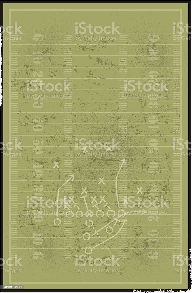 Football Field Background with Play vector art illustration