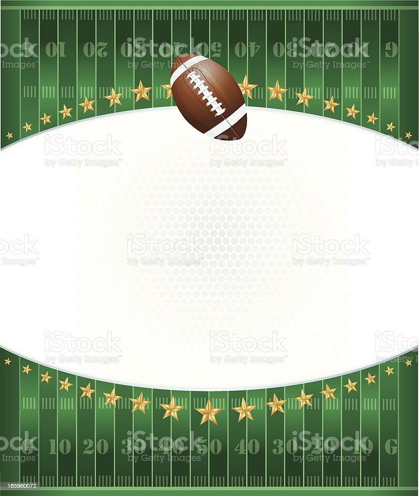 Football Field Background with Stars royalty-free football field background with stars stock vector art & more images of american football - ball