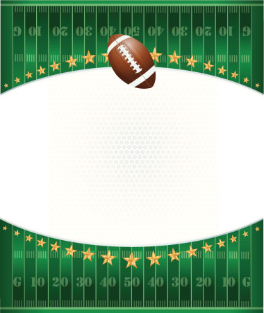 Football Field Background with Stars
