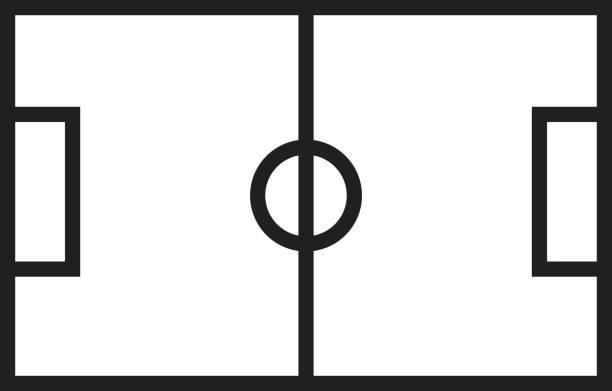Fussballfeld Stock Vektoren Und Grafiken Istock