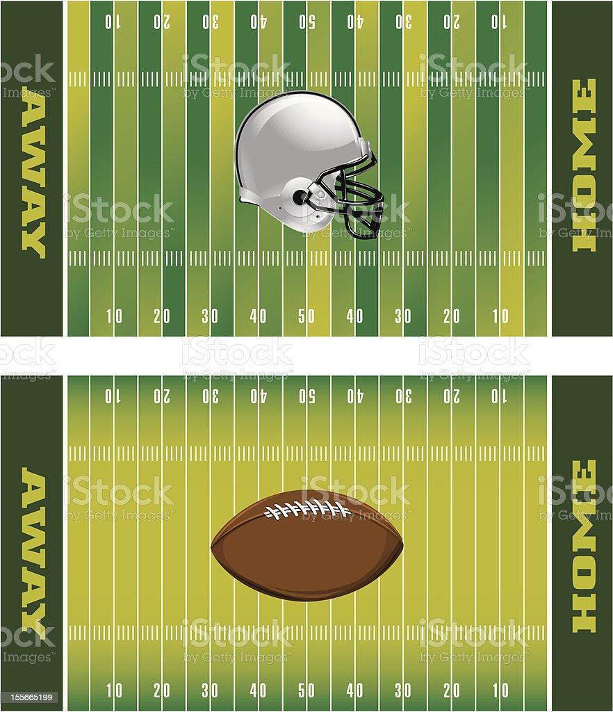 Football Field royalty-free stock vector art