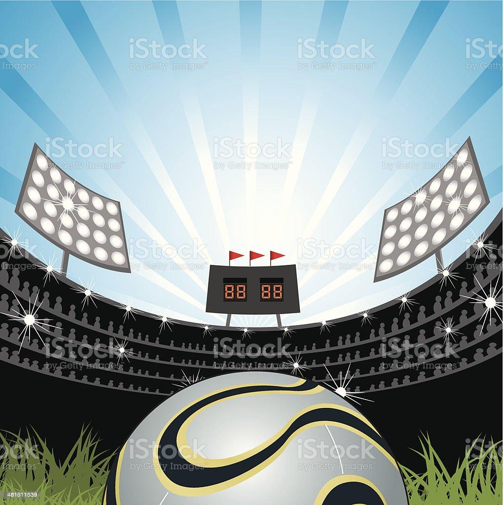 アメリカンフットボールフィールド ベクターアートイラスト