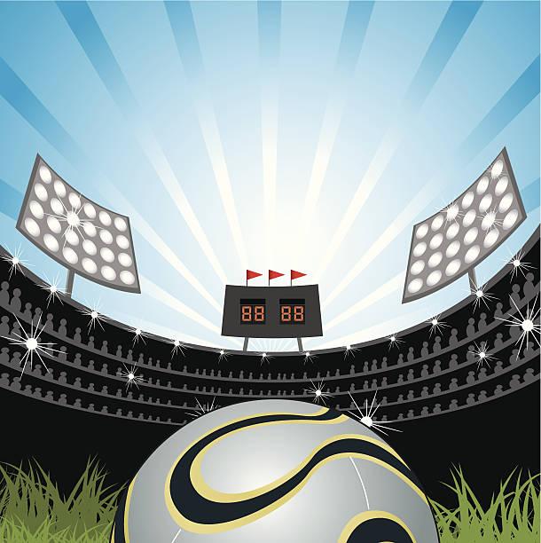 アメリカンフットボールフィールド - グランドオープン点のイラスト素材/クリップアート素材/マンガ素材/アイコン素材