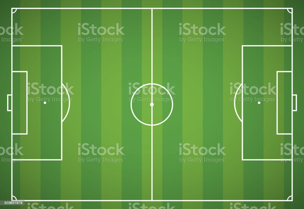 Football field vector art illustration