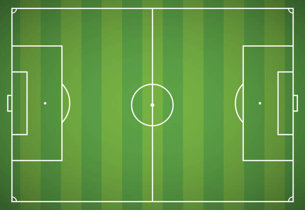 Football field Gradient and transparent effect used. soccer field stock illustrations