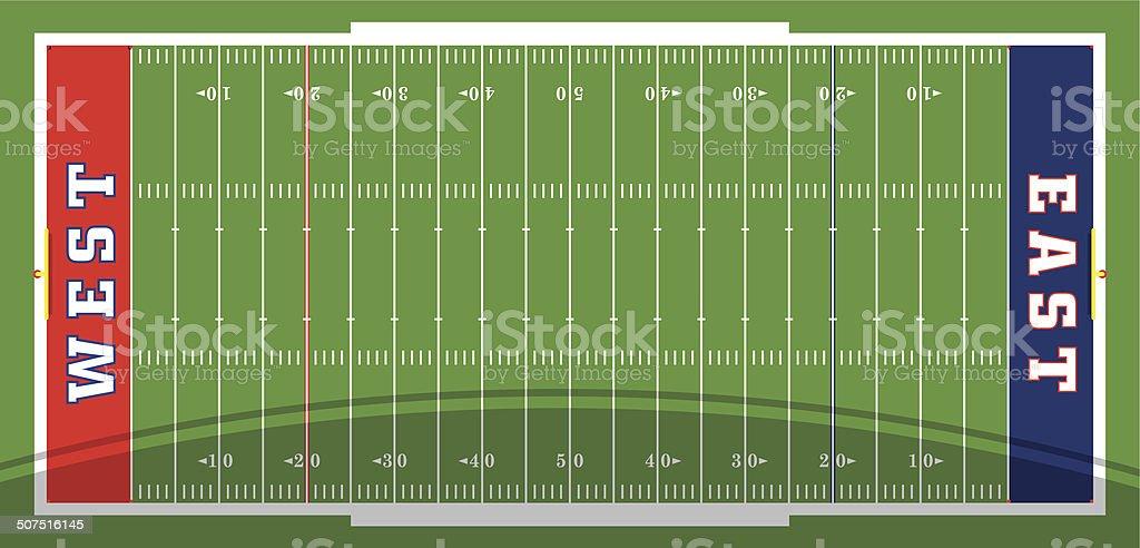 Football Field Vector vector art illustration