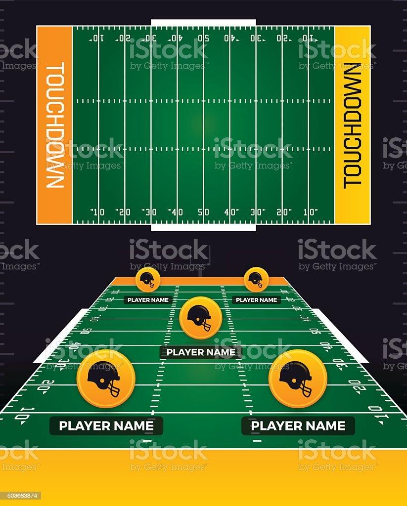 Football Fields vector art illustration
