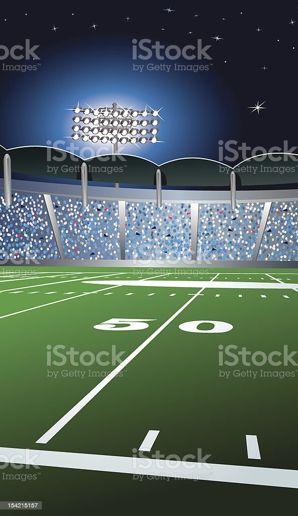 Football Fifty Yard Line Background vector art illustration