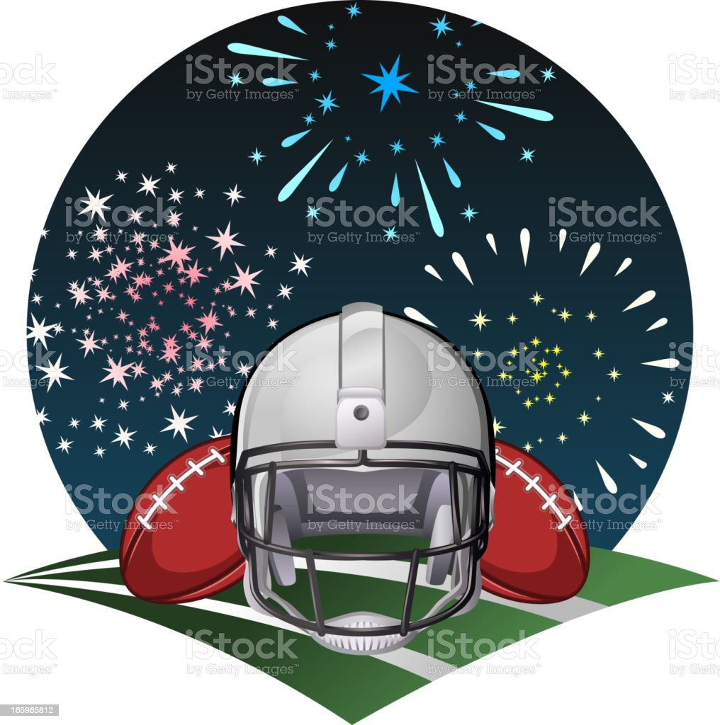 Football fireworks royalty-free stock vector art