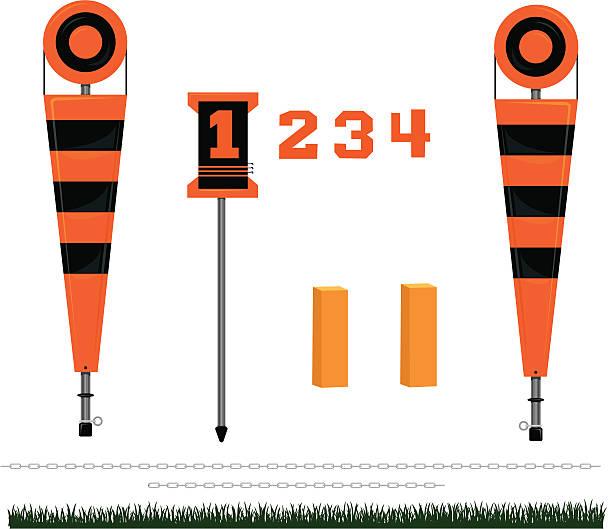 ilustrações de stock, clip art, desenhos animados e ícones de primeiro para baixo, os marcadores de futebol - primeiro down futebol americano
