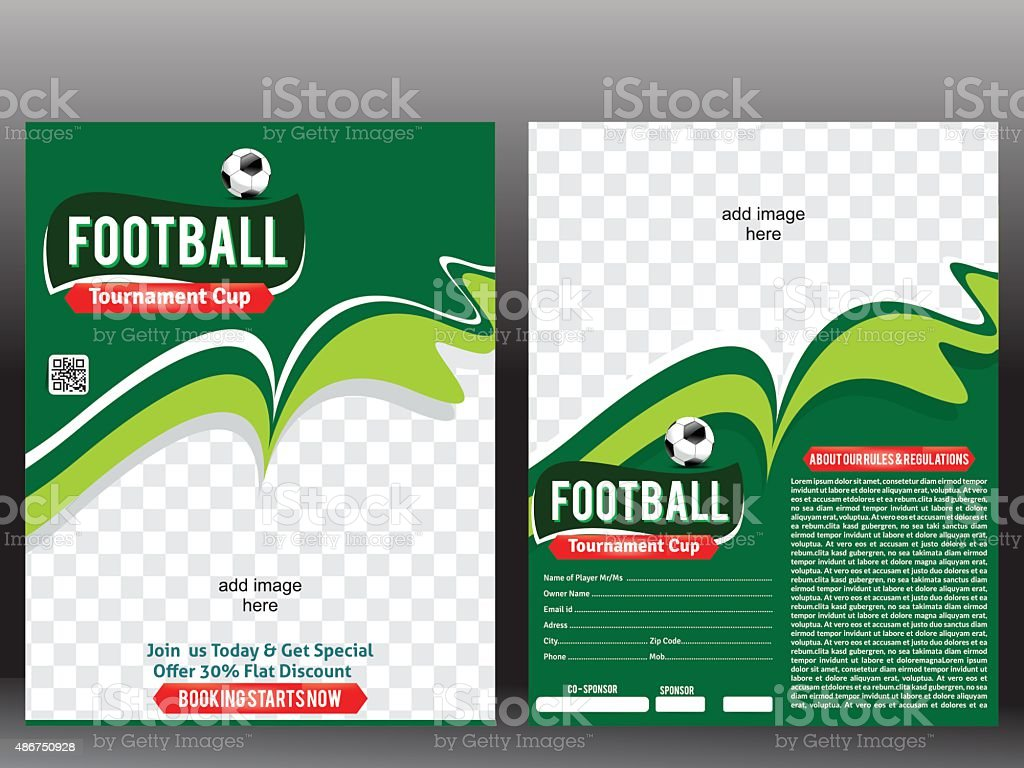 Football Flyer Poster Design Template Stock Vector Art More Images