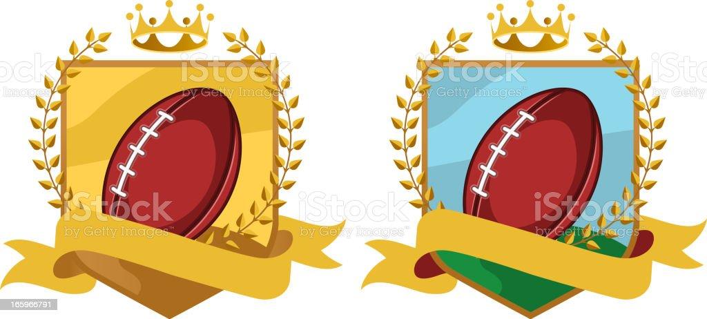 Football gold shield royalty-free stock vector art