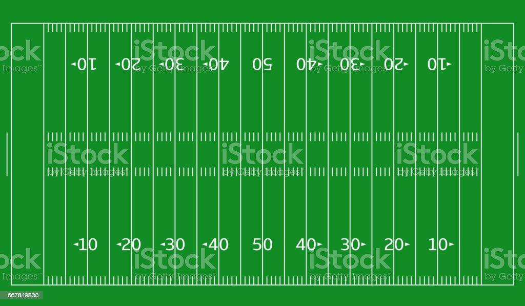 Football green field2 vector art illustration