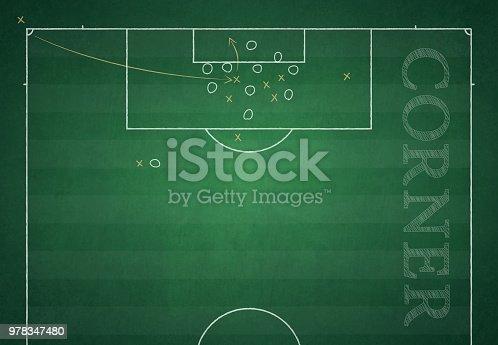 Football Ground Field Vector Illustration Of Game Plan Stock Vector