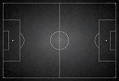 Football ground / field vector illustration