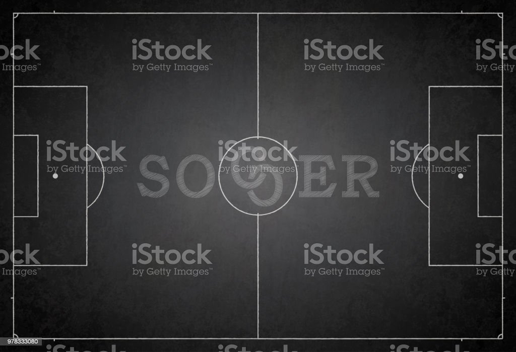 Football ground / field vector illustration