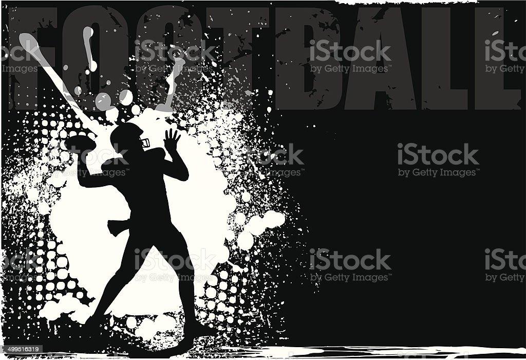 Football Grunge Background vector art illustration