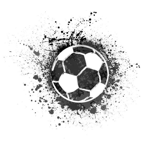 bildbanksillustrationer, clip art samt tecknat material och ikoner med fotboll grunge bakgrund - fotboll