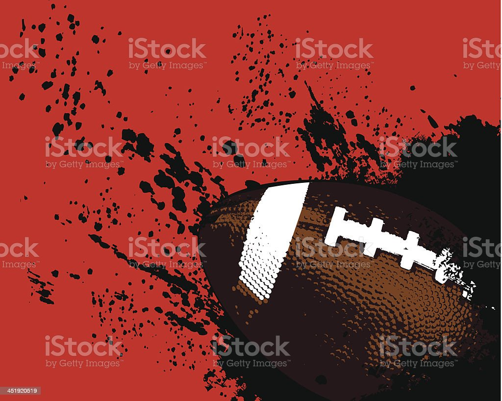 Bola de Grunge de fútbol - ilustración de arte vectorial