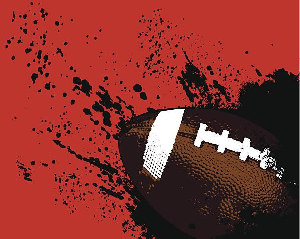 グランジサッカーボール - アメリカンフットボール点のイラスト素材/クリップアート素材/マンガ素材/アイコン素材