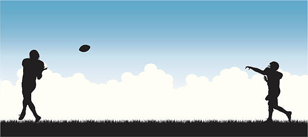 Football Heaven  quarterback stock illustrations