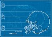 Football Helmet Blueprint