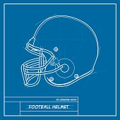 Football Helmet Blueprint
