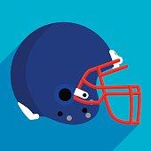 Football Helmet Flat