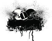 Football Helmet Grunge Graphic