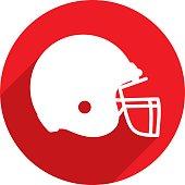 Football Helmet Icon Silhouette