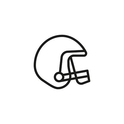 Football helmet line icon
