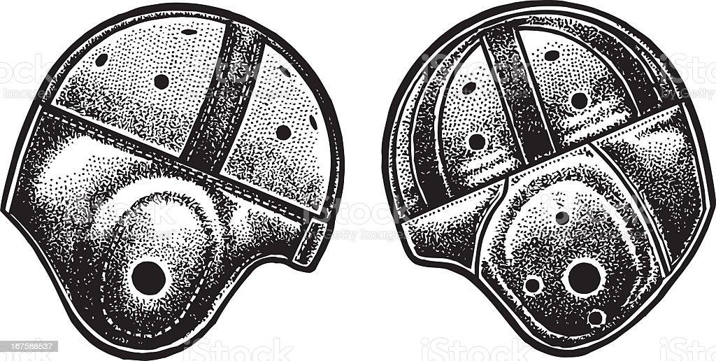 Football Helmet - Old Fashion Leather royalty-free stock vector art