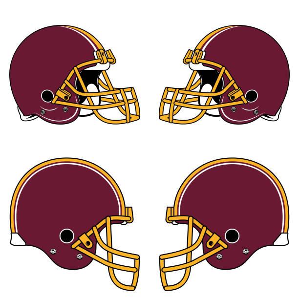 1 677 Football Helmet Illustrations Clip Art Istock