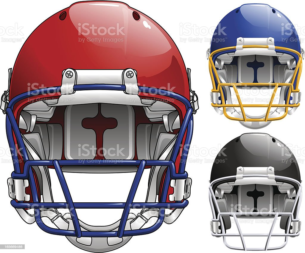 Football Helmet royalty-free stock vector art