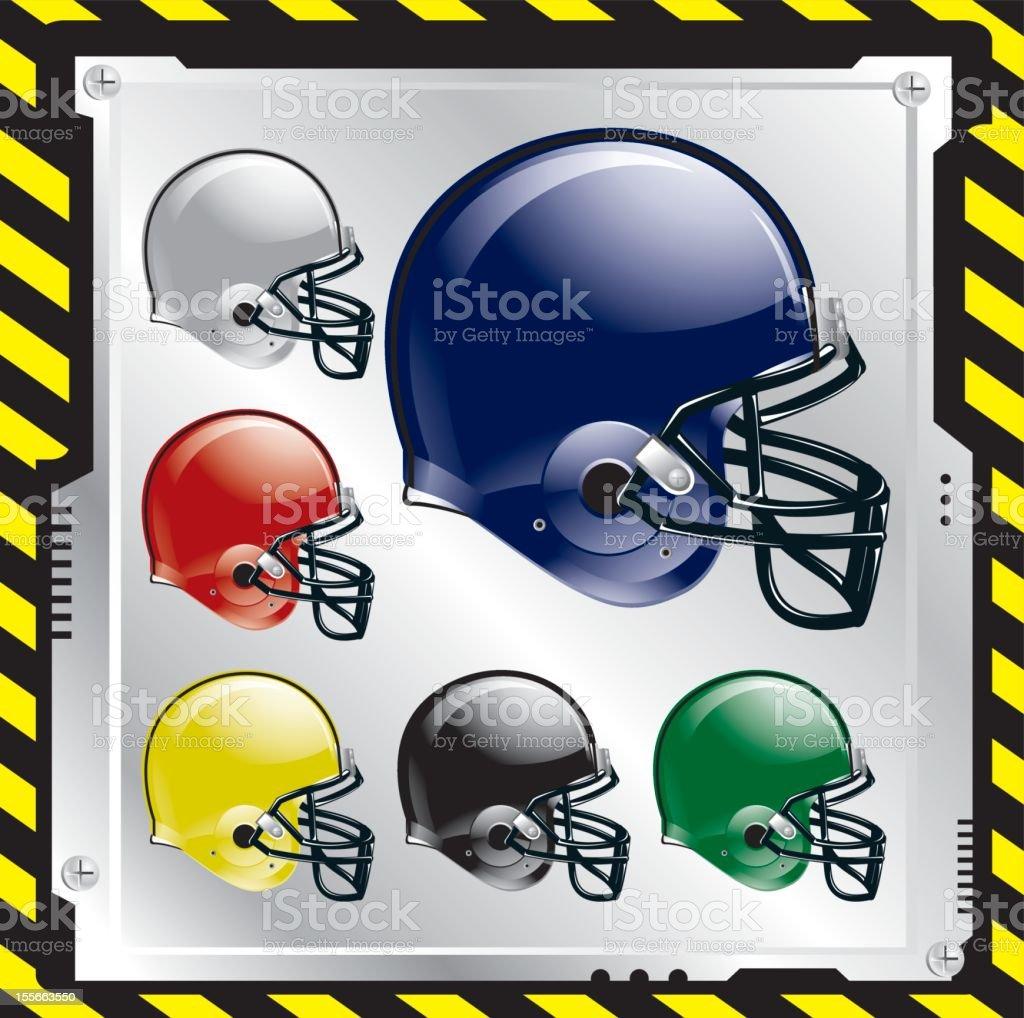 Football Helmets royalty-free football helmets stock vector art & more images of american culture