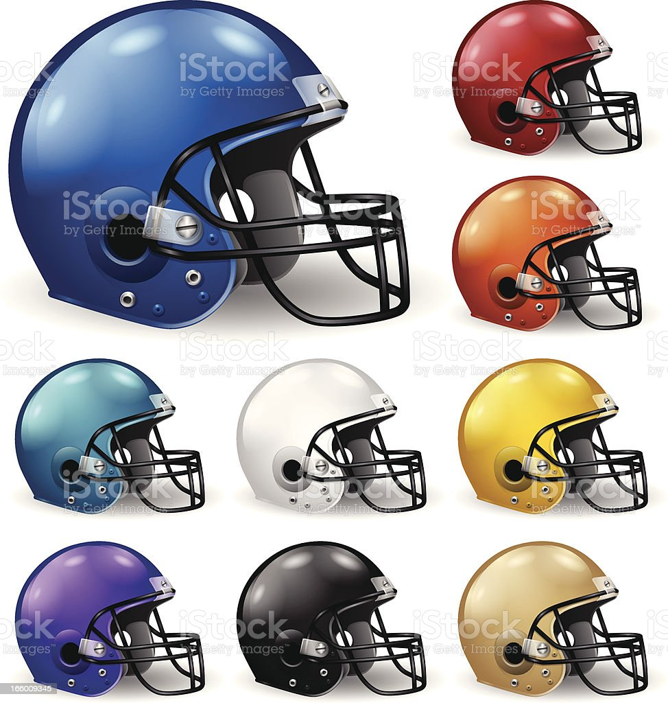 Football Helmets vector art illustration