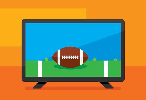 HDTV Football Icon Flat