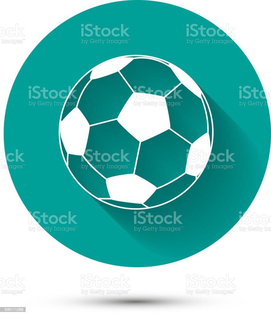 Icône de Football américain sur fond vert avec shadow - Illustration vectorielle