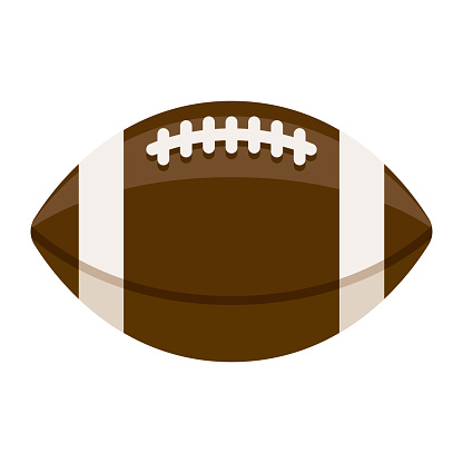 Football Icon on Transparent Background
