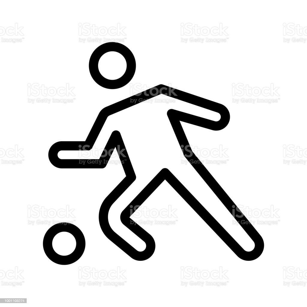 Fussballsymbol Vektor Zeichen Und Symbol Isoliert Auf Weissem