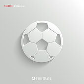 Football icon - vector web illustration, easy paste to any background