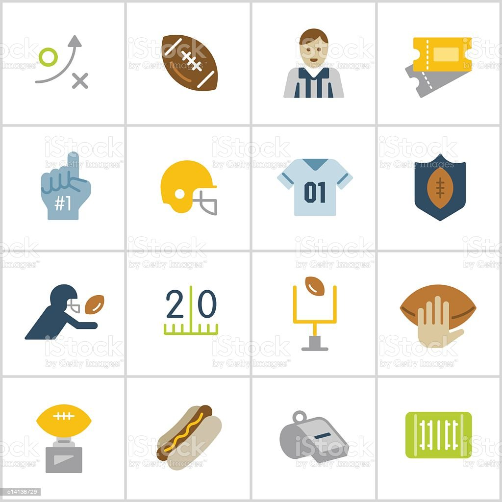 Football Icons — Poly Series vector art illustration