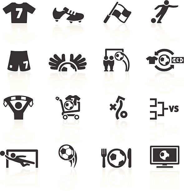football-icons set 2 - fussball fan stock-grafiken, -clipart, -cartoons und -symbole