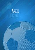 Football illustration background on blue color