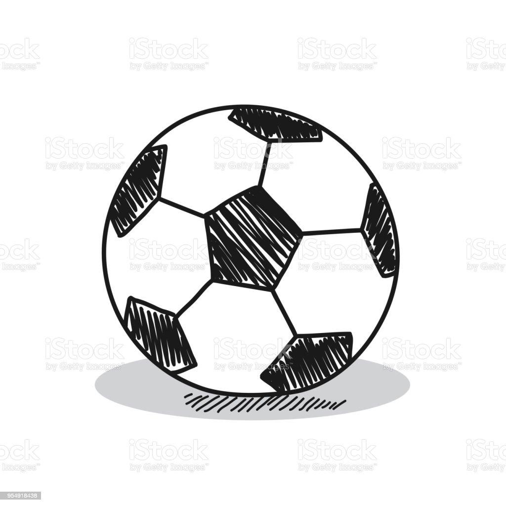 白い背景にサッカー イラスト いたずら書きのベクターアート素材や画像