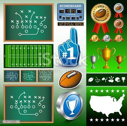 istock Football Info Graphic 522521135